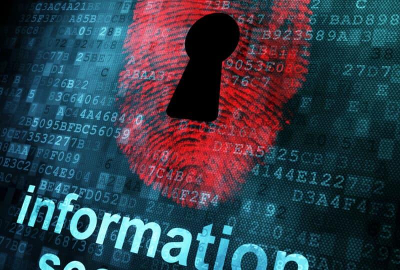Fingerprint and information security on digital screen, 3d renderFingerprint and information security on digital screen, 3d render