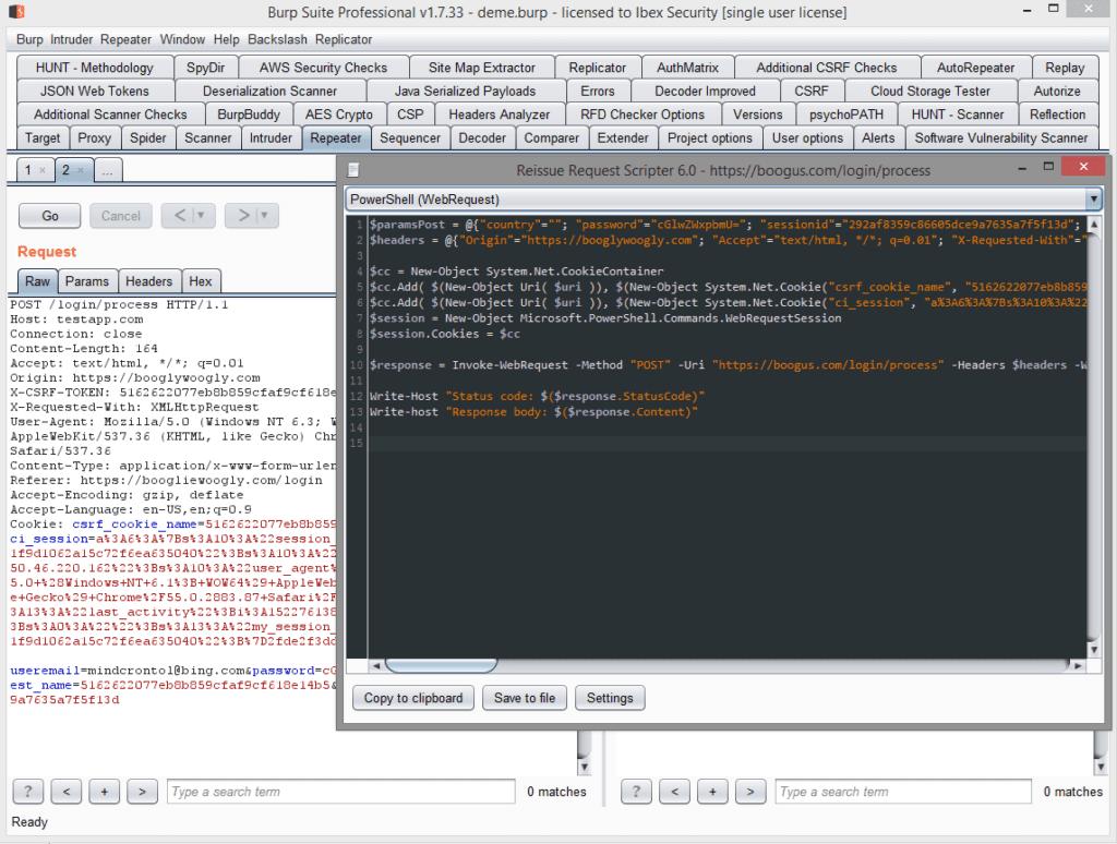 Script generator dialog