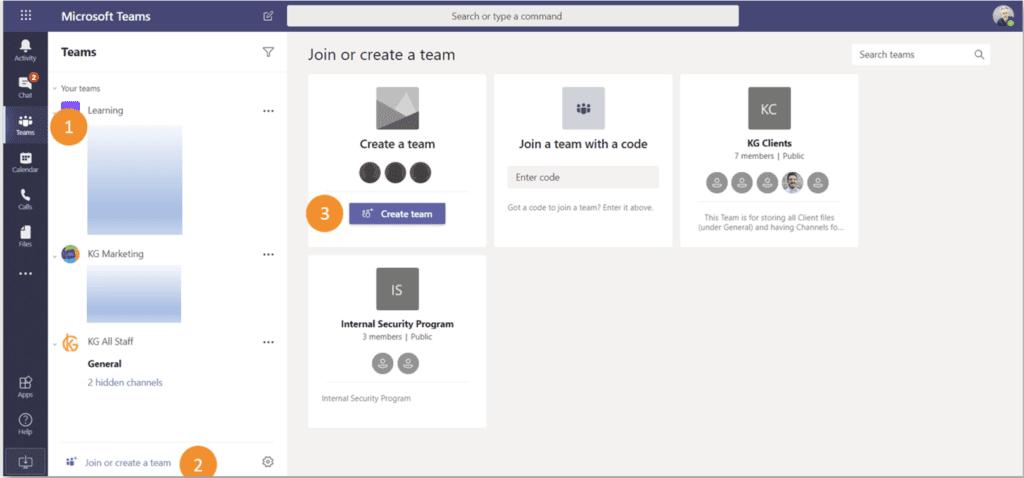 How to create a team screenshot
