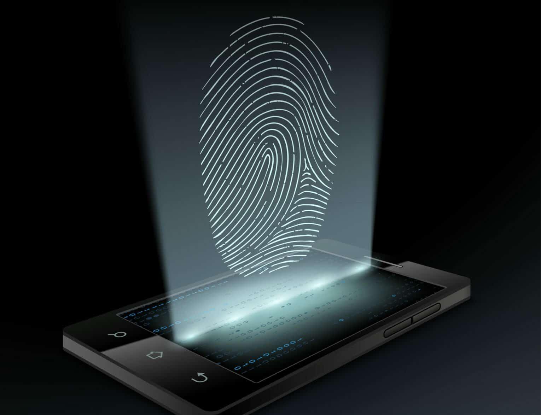 icon fingerprint on the screen
